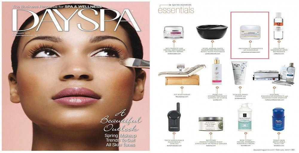 3D Gommage seen in DaySpa Magazine feb issue!